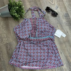 2 for $20 Liz Claiborne Damask Prink Tankini